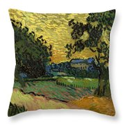 Landscape At Twilight Throw Pillow