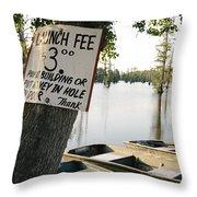 Launch Fee Throw Pillow