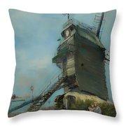 Le Moulin De La Galette Throw Pillow