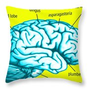 Learn About Your Brain Throw Pillow