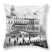 Lincoln's Funeral, 1865 Throw Pillow