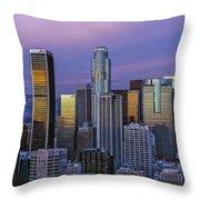 Los Angeles Skyline Sunset Throw Pillow