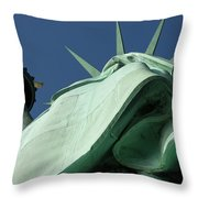 Low Angle View Of Statue Of Liberty Throw Pillow