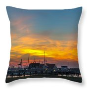 Harbor Lowcountry Sunset Throw Pillow