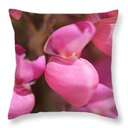 Lupine Named Gallery Pink Throw Pillow