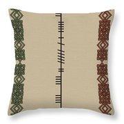 Maccormack Written In Ogham Throw Pillow