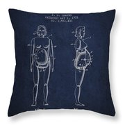Manikin For Teaching Obstetrics And Midwifery Patent From 1951 - Throw Pillow