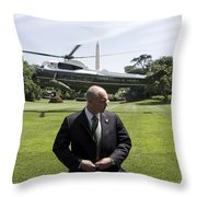 Marine One Throw Pillow