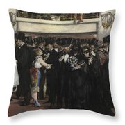Masked Ball At The Opera Throw Pillow