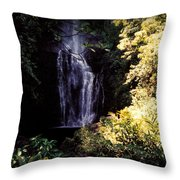 Maui Waterfall Throw Pillow