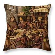 Medieval Accountants, 1466 Throw Pillow