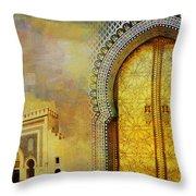 Medina Of Faz Throw Pillow