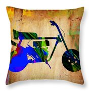 Mini Bike Throw Pillow