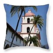Old Mission Santa Barbara Throw Pillow