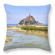 Mont Saint-michel - Normandy Throw Pillow