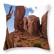 Monument Valley - Arizona Throw Pillow