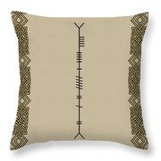 Moran Written In Ogham Throw Pillow