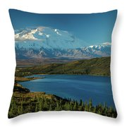 Mount Denali, Previously Known Throw Pillow