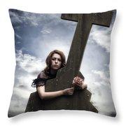 Mourning Throw Pillow