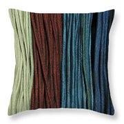 Multi-colored Striped Fabrics Throw Pillow