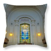 Naval Academy Chapel Throw Pillow