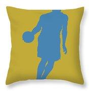 Nba Shadow Player Throw Pillow by Joe Hamilton