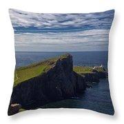 Neist Point Lighthouse Throw Pillow