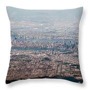 New York City Aerial Throw Pillow