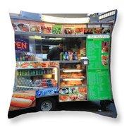 New York Street Vendor Throw Pillow