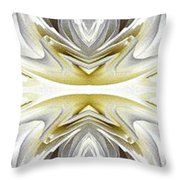 Nonstop Apple Blossom Abstract Throw Pillow