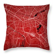 Nuremberg Street Map - Nuremberg Germany Road Map Art On Colored Throw Pillow