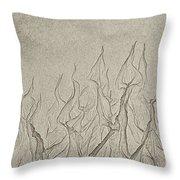 Ocean Sand Art Hearts Throw Pillow