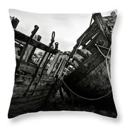 Old Abandoned Ships Throw Pillow