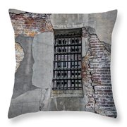 Vintage Jail Window Throw Pillow