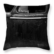 Old Junker Car Open Edition Throw Pillow