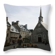 Old Town Quebec - Canada Throw Pillow