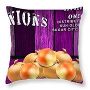 Orange Farm Throw Pillow