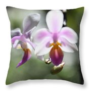 Orchids Dance Throw Pillow