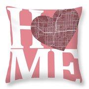 Orlando Street Map Home Heart - Orlando Florida Road Map In A He Throw Pillow