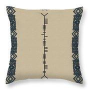 O'sullivan Written In Ogham Throw Pillow