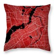 Ottawa Street Map - Ottawa Canada Road Map Art On Colored Backgr Throw Pillow