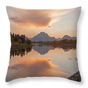 Oxbow Bend Grand Teton National Park Throw Pillow