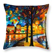 Park By The River Throw Pillow