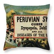 Patent Medicine Throw Pillow