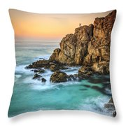 Penencia Point Galicia Spain Throw Pillow