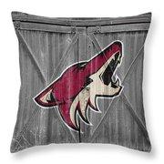 Phoenix Coyotes Throw Pillow