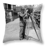 Photographer, C1915 Throw Pillow
