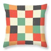 Pixel Art Square Throw Pillow