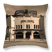 Pnc Park - Pittsburgh Pirates Throw Pillow