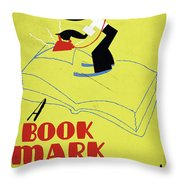 Poster Books, C1938 Throw Pillow